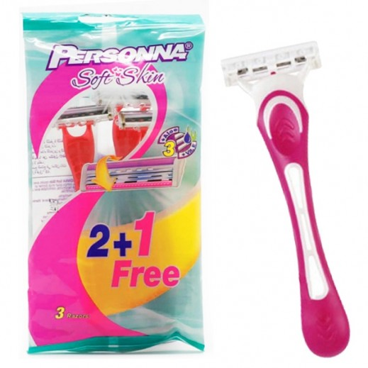 Personna Women Speed3 Sport Pink Razors 2 + 1 Free