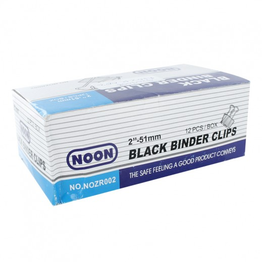 Noon Black Binder Clips 51mm