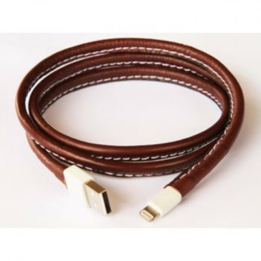 Esbee Leather Lightning Cable Brown