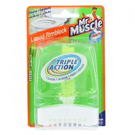 Mr Muscle Rim Block Liquid Triple Action Fresh 55 ml