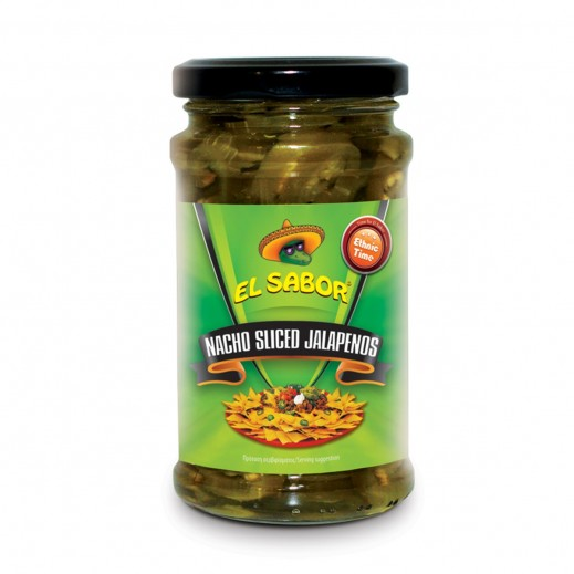 El Sabor Nacho Sliced Jalapenos 225 g