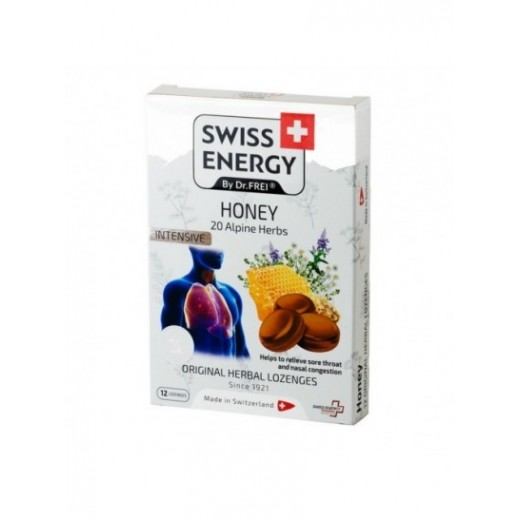 Swiss Energy Intensive Honey 12 Lozenges