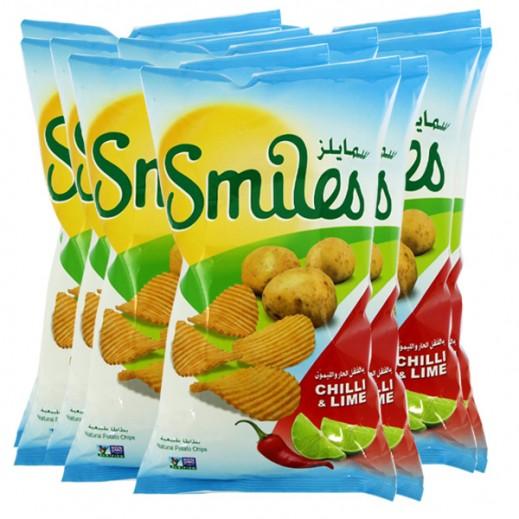 Fico Smiles Chilli & Lime Chips 5 X 27 g