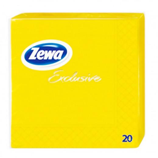 Zewa Exclusive 3 Ply Napkins Yellow - 20 Pieces