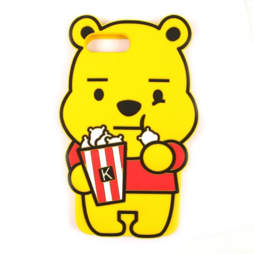 WK Design Silicone Bear Case for iPhone 7 Plus / 8 Plus - Yellow