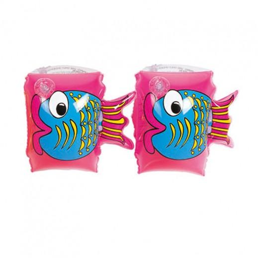 Bestway Friendly Fish Armbands Pink 23cm x 15cm