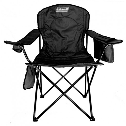Coleman Quad Chair With Cooler-Black