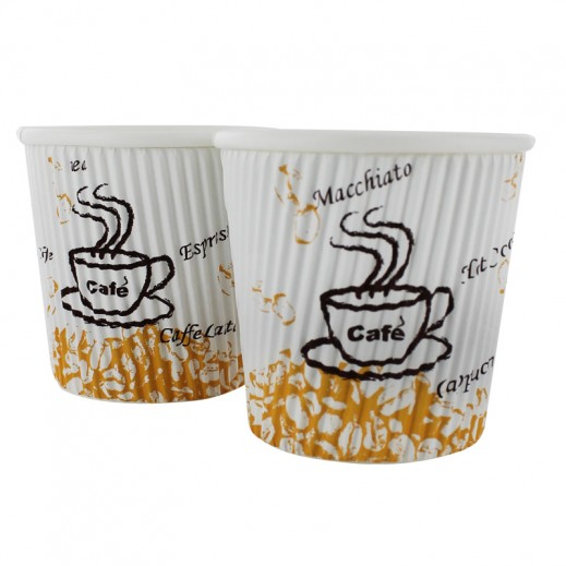 Falcon Crown Ripple Wrap Hot Cup 4 OZ (25 cups)
