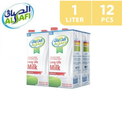 Al-Safi Low Fat Long Life Milk 12 x 1 L