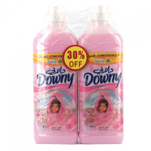 Downy Pink Floral Breeze Concentrate 2x1 ltr (30% off Prom)