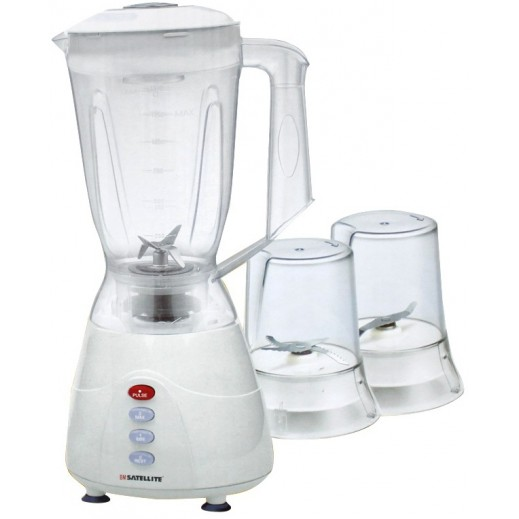 BM Satellite Unbreakable Jar Mixer With 2 Grinder BM-346