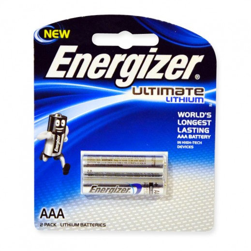 Energizer Ultimate Lithium AAA Battery 2 Pack