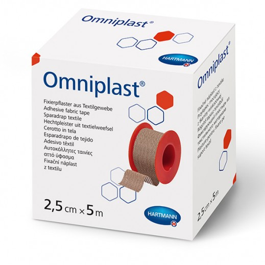 Hartmann Omniplast Skin Color Adhesive Fabric Tape 2.5 cm X 5 m