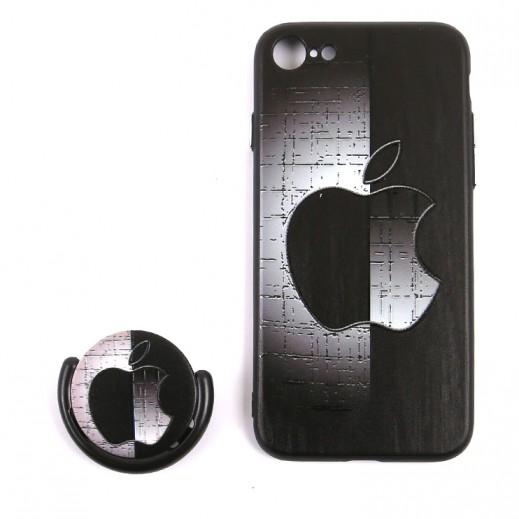 Boter 3 in 1 Fashion Case & Holder for iPhone 7 / 8 – Black & Grey design