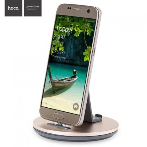 Hoco Mobile Phone Charging holder for Samsung Devices Gold