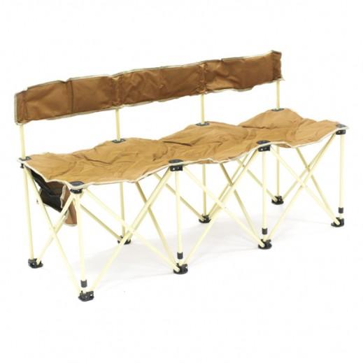 Kadi Foldable 3 Seat Chair with Carry Bag (140x52x74 cm)