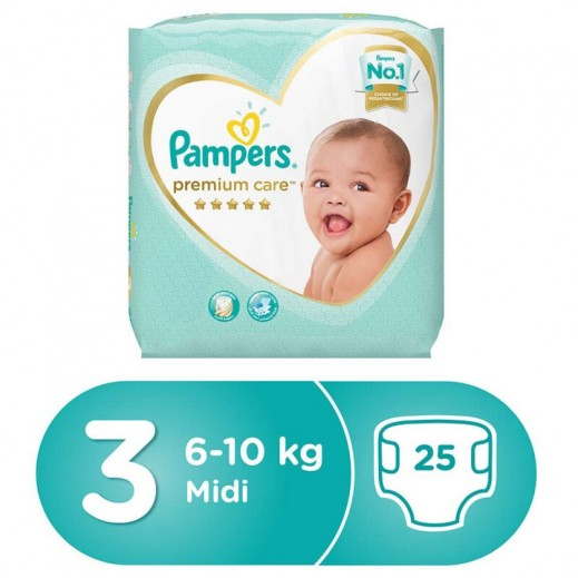 Pampers Premium Care Diapers Stage 3 (6-11 Kg) 25 Pieces
