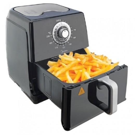Midea 1700W Non Stick Air Fryer 8L - Black