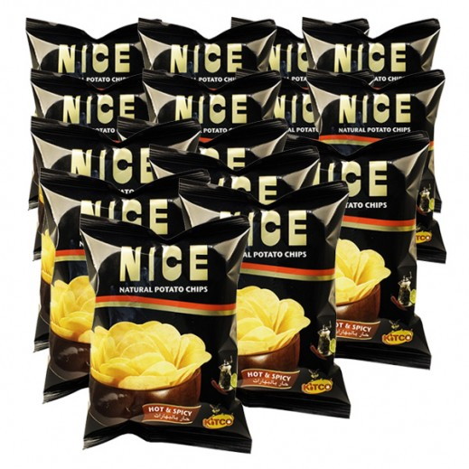 Kitco Nice Chips Hot Spicy 30 g (10 Pieces)