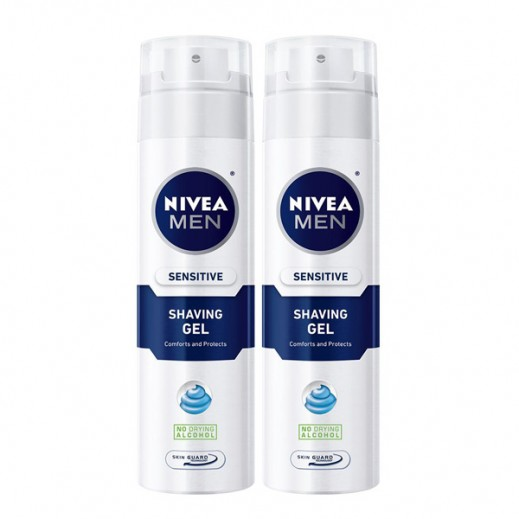 Nivea Men Sensitive Shaving Gel (2x200 ml)