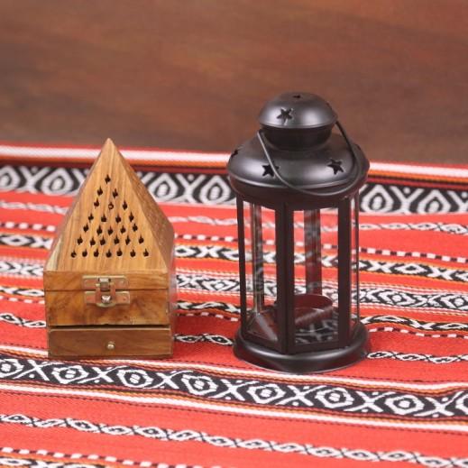 Ramadan Candle Lantern - Black