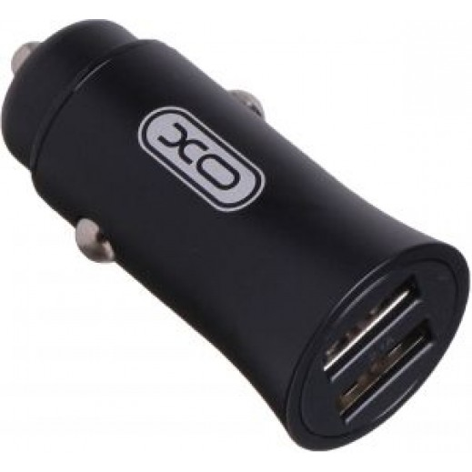 XO Metal Surface Car Charger 2.1A – Black