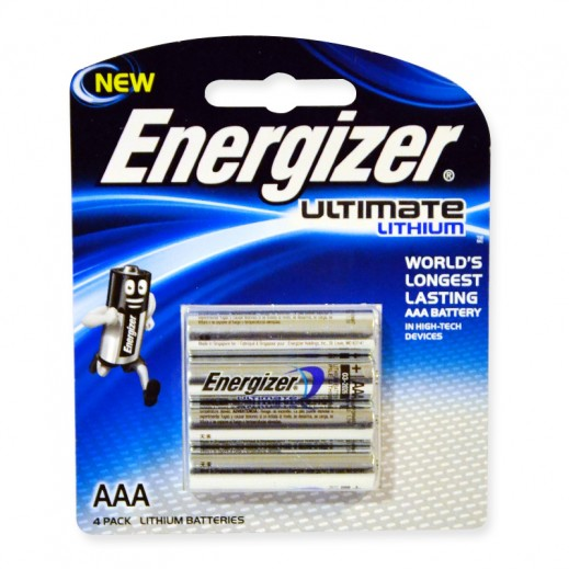 Energizer Ultimate Lithium AAA Battery 4 Pack