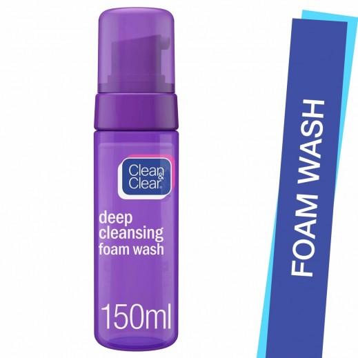 Clean & Clear Deep Cleansing Fresh Foam Wash 150 ml