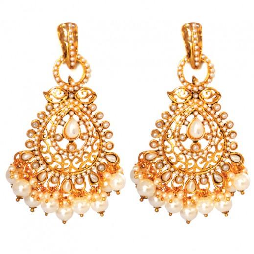 Bling - Long Chandelier Pearls Earrings