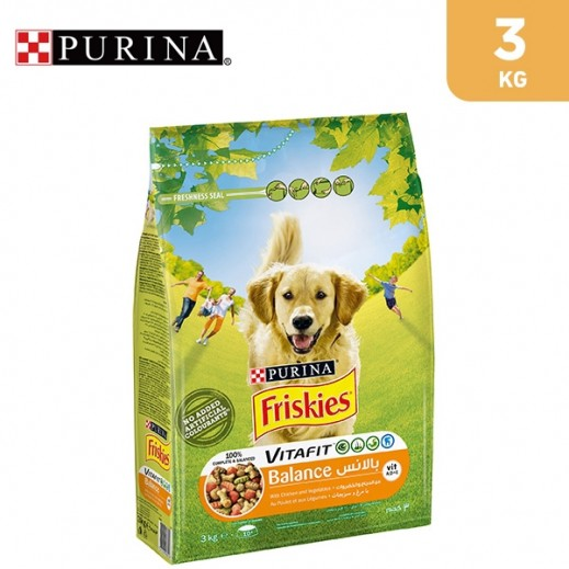 Purina Friskies Balance Dog Food with Chicken and Vegetables 3 kg