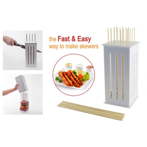 Kebab Maker Box with Stainless Steel Skewers