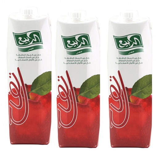 Al Rabie Apple Nectar Juice 1 L (3 Pieces)