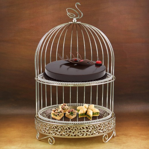 2 -Tier Cake Stand Silver