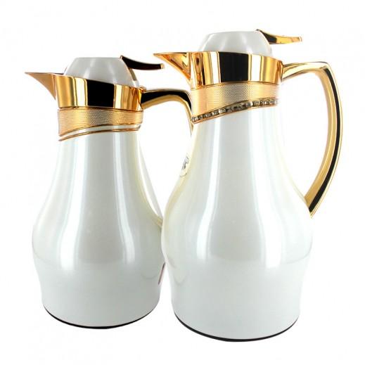 ASC Vacuum Flask FYC 2 pieces Set White Gold