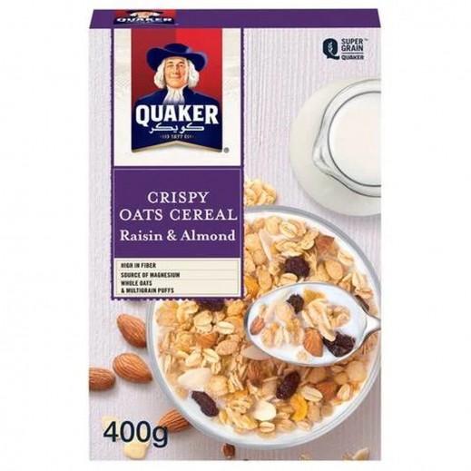 Quaker Raisin & Almond Crispy Oat Cereal 400 g