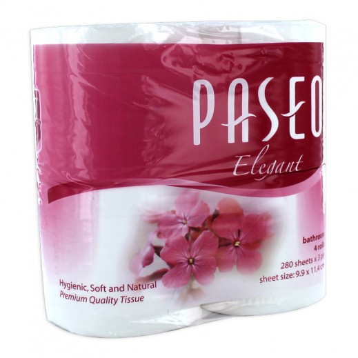 Paseo 280 sheets Toilet Tissue (4 rolls)