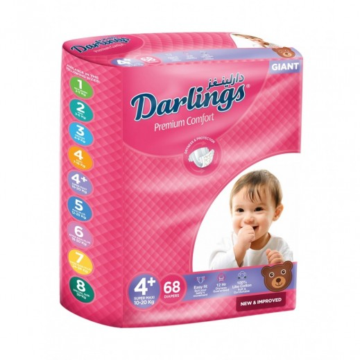 Darlings Super Maxi Stage 4+ (10-20 kg) 68 Pieces