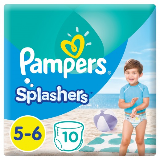 Pampers Splashers Swimming Pants Stage 5-6 (14+ kg) - 10 Pieces