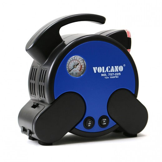Volcano Air Compressor With Tire Repair Tool & Rubber Seal