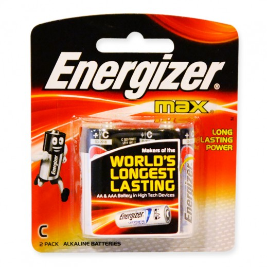 Energizer Max Alkaline C Size Battery 2 Pack