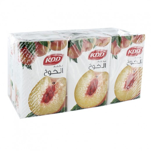 KDD Peach Nectar Juice 6 x 250 ml