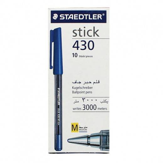 Staedtler Stick 430 Ballpoint Pen 10 pieces - Blue