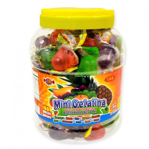 Mini Gelatina Fruits Jelly Jar