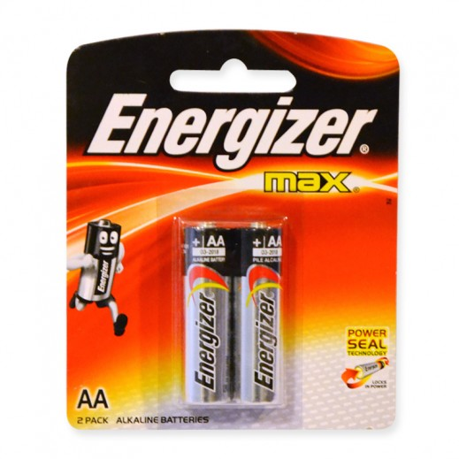 Energizer Max Alkaline AA Battery 2 Pack