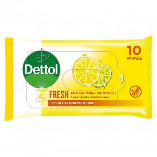 Dettol Fresh Anti-Bacterial Alcohol Free Wipes 10 Wipes