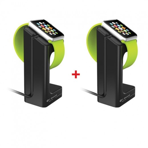 Buy 1 Get 1 Free E7 Charging Dock Station for Apple Watch - Black