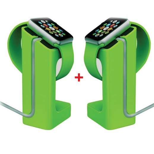 Buy 1 Get 1 Free E7 Charging Dock Station for Apple Watch - Green