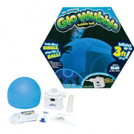 Amazing Glo Wubble Bubble Ball Asst - Blue