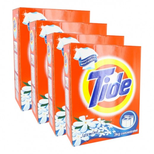 Wholesale - Tide With Jasmine Scent (TL) 3 kg (4 pieces)