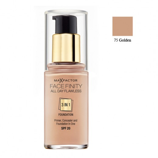 MaxFactor Facefinity 3In1 Foundation Golden (No 75)